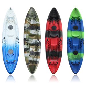 2018 Hot Sale New Single Person Fishing Kayak/Canoe With New Rudder And Paddles