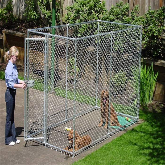 High Quality New Design large outdoor chain link dog kennel/dog fence for sale