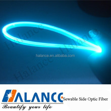 Sewable, Water proof and Durable fiber optic side glow cable lighting