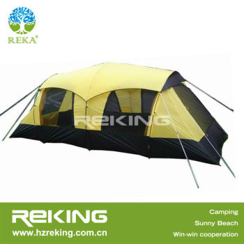 Yellow Two Rooms High Quality Family tent For Camping