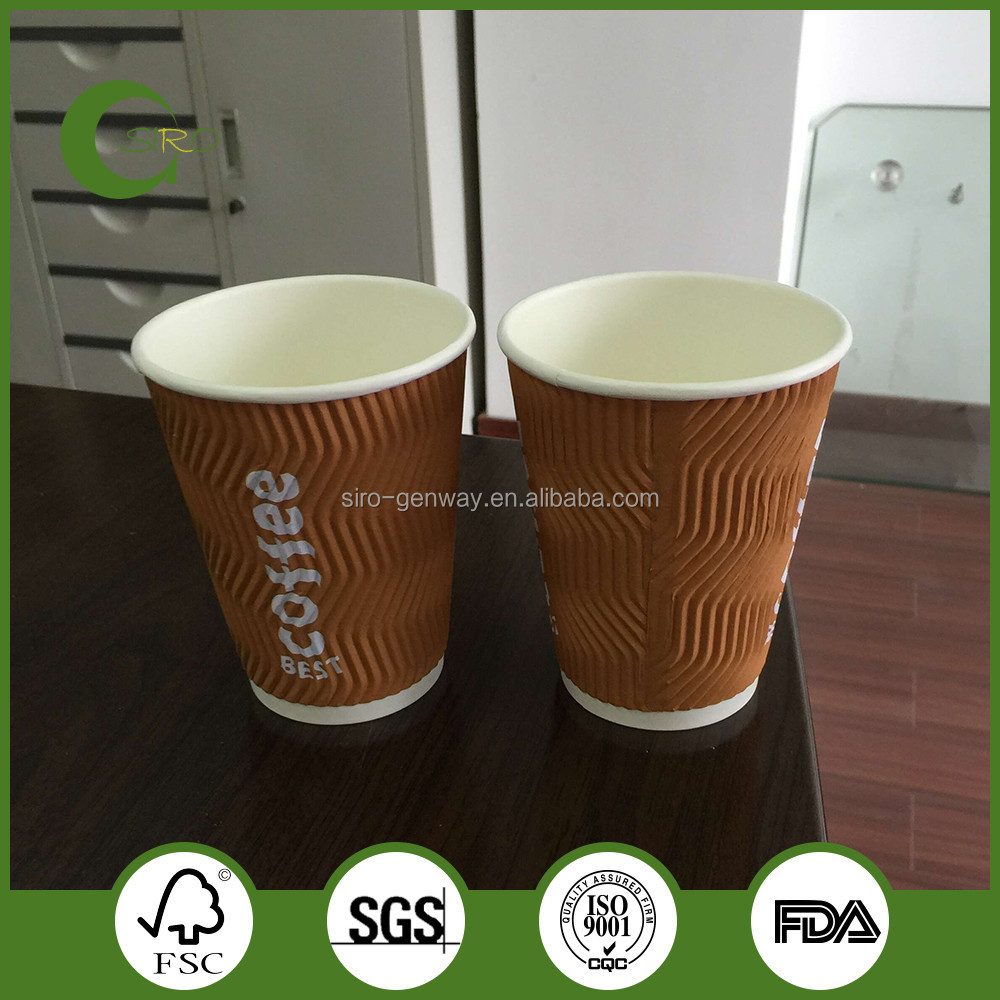 8oz/10oz/12oz ripple wall paper cups,custom printed paper cups
