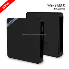 Factory wholesale android smart tv set top box mini m8s ii free download hot sex video