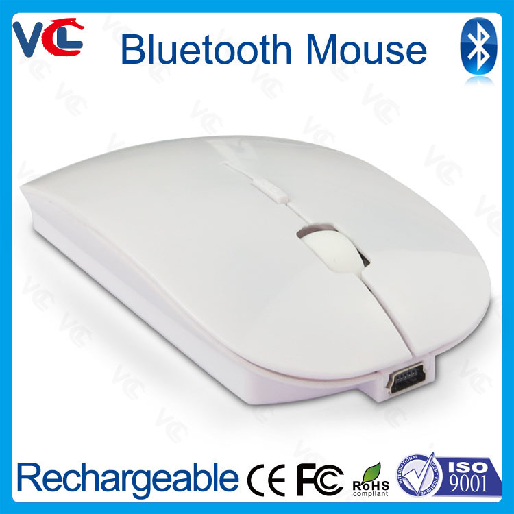 Computer accessory Portable BT 3.0 Rechargeable Bluetooth wireless mouse for laptop computer