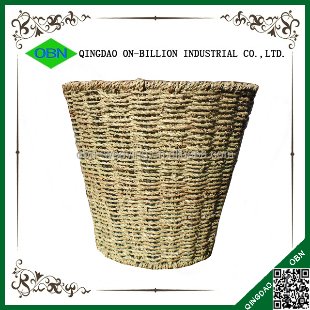 Wholesale round waste basket handicraft handmade seagrass for Handicrafts from waste