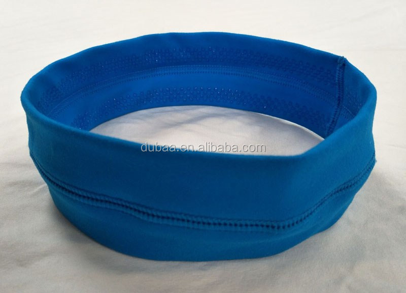 Wide Sports Headband Non Slip Moisture Wicking Sweatband Yoga Athletic Headwear Multi Function