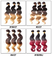 T Color Two Tone Colored Brazilian Hair Weave