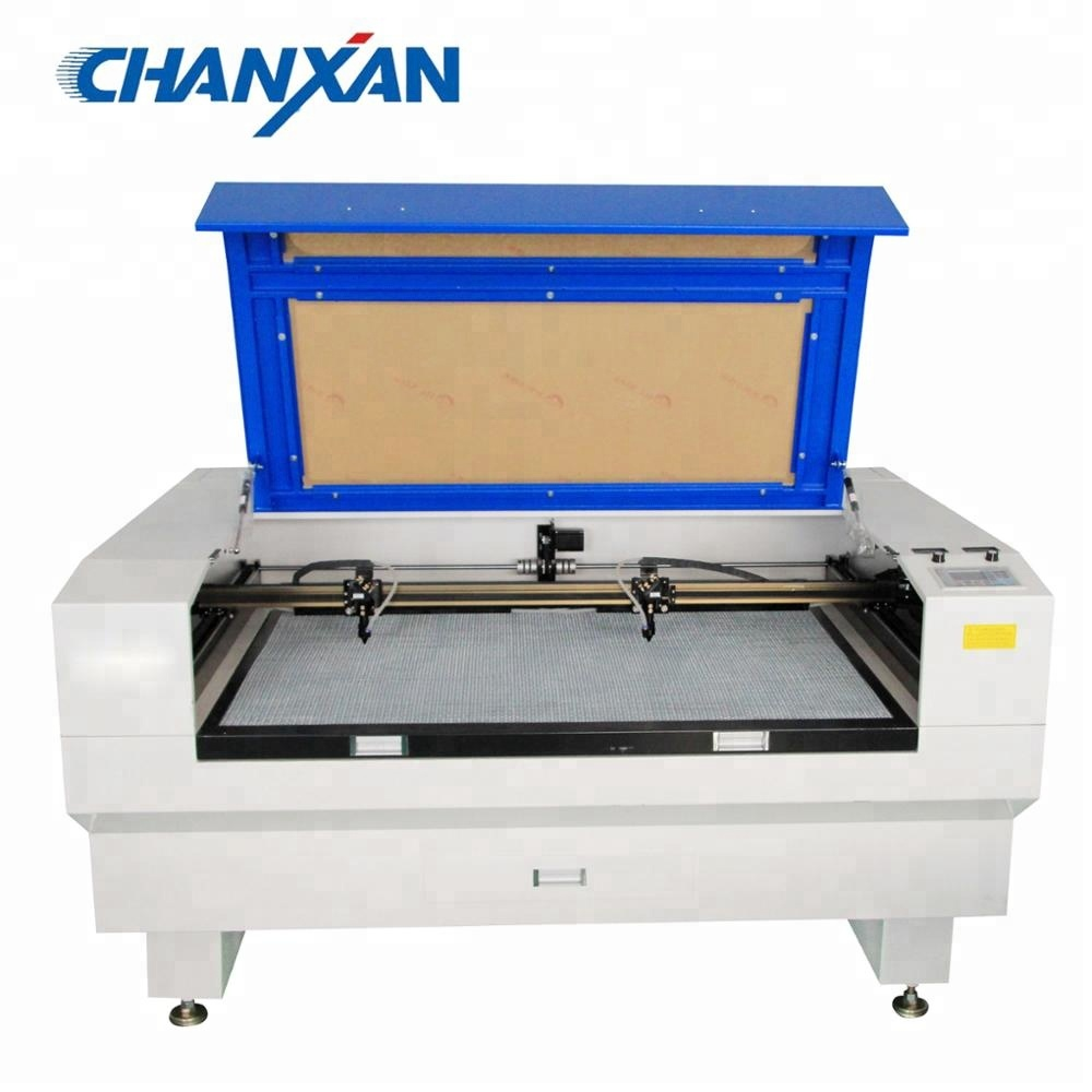 Chanxan CNC <strong>laser</strong> 150W two heads Cardboard <strong>laser</strong> cutting machine