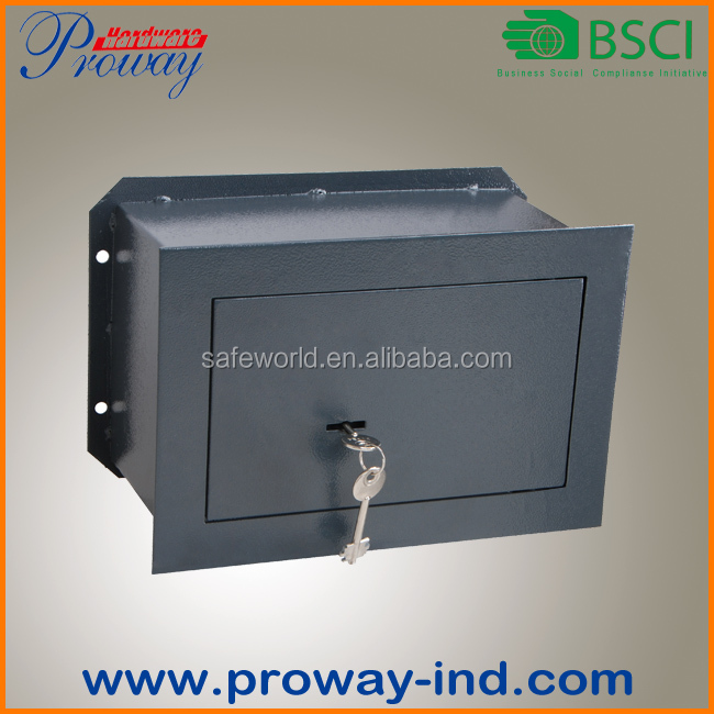 wall mounted safe box with traditional lamina-type key