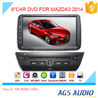 touch screen car dvd mp3 mp4 player for MAZDA AXELA with reversing camera/car cassette/cd dvd/gps