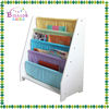 Solid color wood kids school cheap library bookshelf