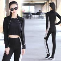 Good Quality Girls Bodybuilding Gym Wear Fitness Activewear Black Yoga Wear Sport Clothing Set