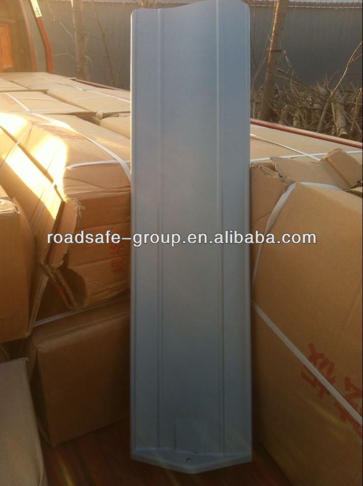 Flexible shape highway guardrail anti-dazzle panel