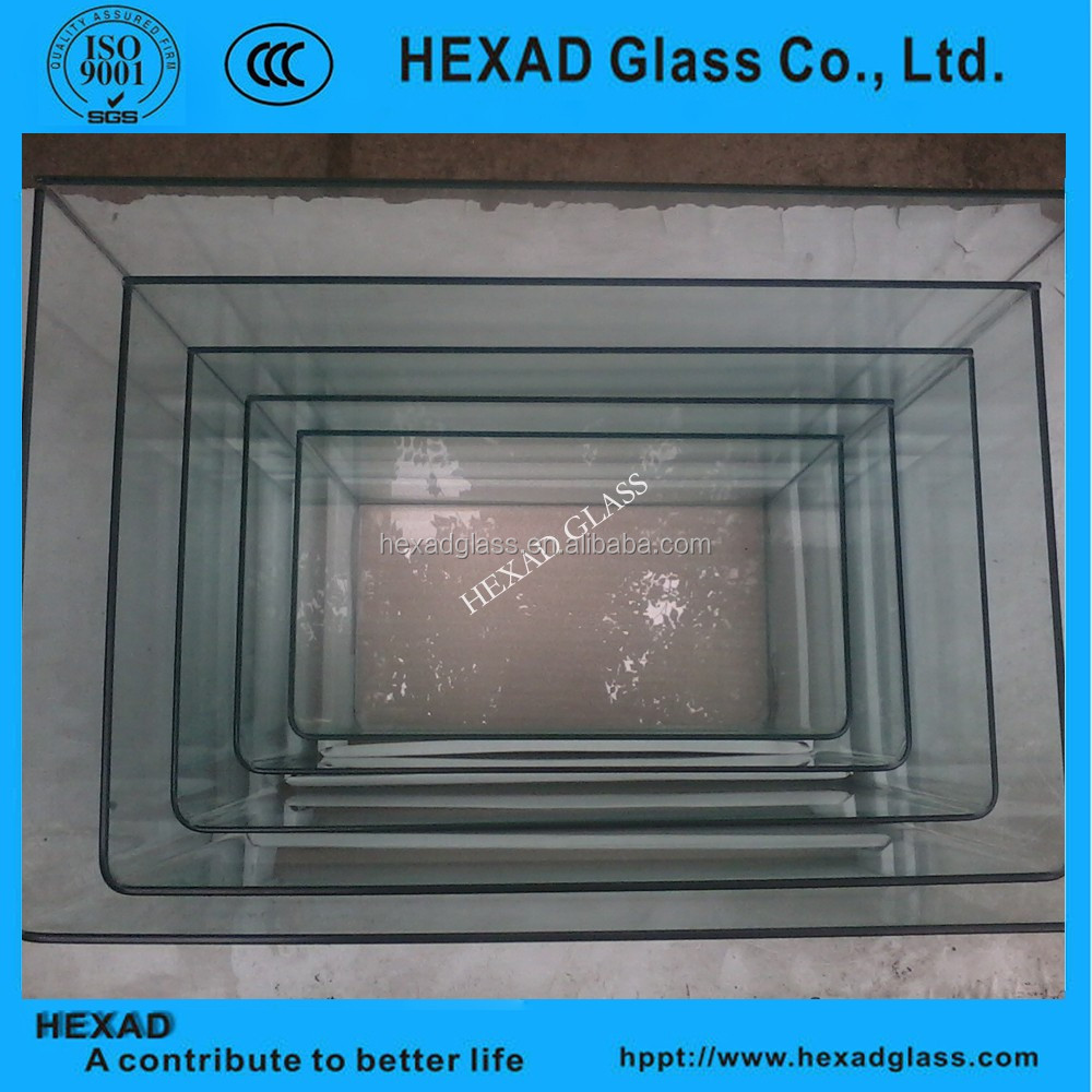 Chinese supplier curved tempered glass for fish tank