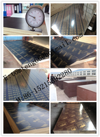 one time/two time hot press 18mm brown/black/ film faced plywood linyi china factory