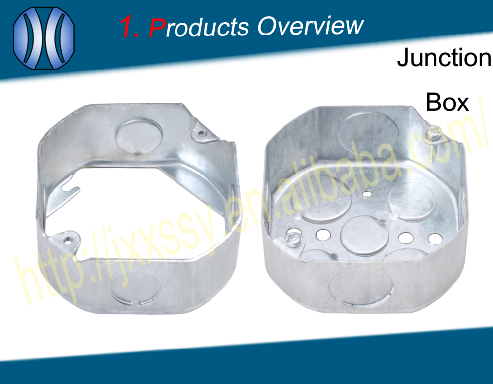 China supplier ul standard steel metal bottom-out gi box