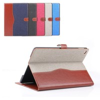 NEW !!!leather case for iPad air 2 wallet Cover with credit card slot and stand!!