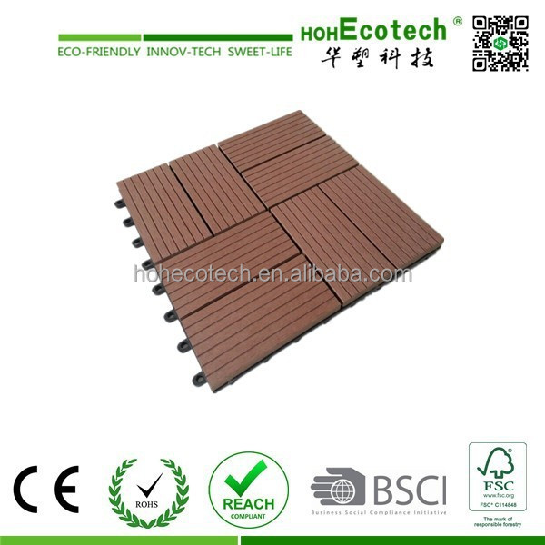 Non Slip Wood Plastic Composite Deck Tiles Buy Composite