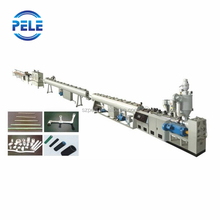 Plastic pipe profile extruding machine line