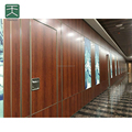 Soundproof sliding folding partitions with diversity finish decoration