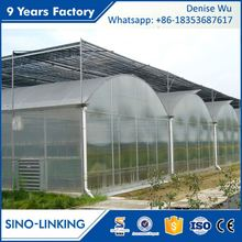 SINOLINKING Galvanized polytunnel hydrophonic greenhouse for agricultural