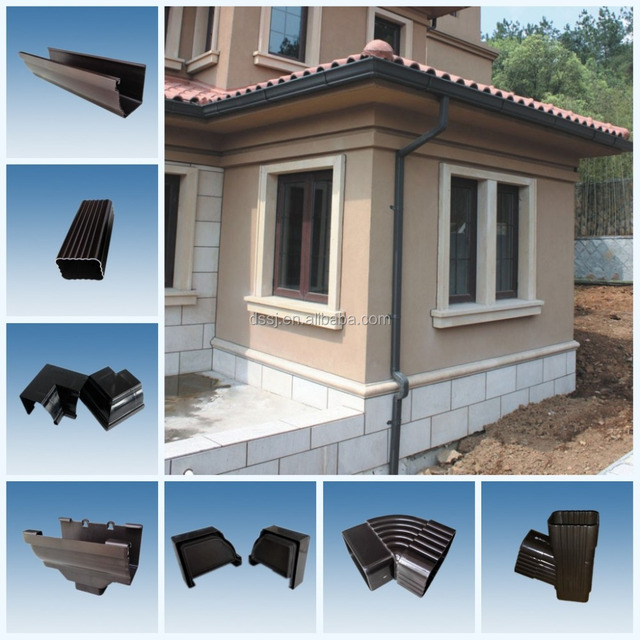 PVC gutter system downspout or downpipe fitting pipe connector china manufacturer roofing using Rain Carrying System