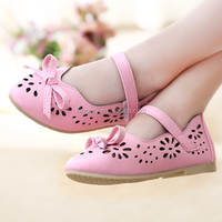 KS40097S Latest design bowknot princess shoes for children girl top quality wholesale children shoes