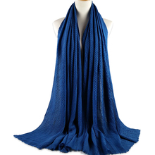Fashionable long size 180*90cm cotton shawl hijabs cotton scarf ladies