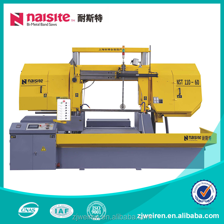 NST 110 60 Horizontal Metal Cutting Band saw machine for metal