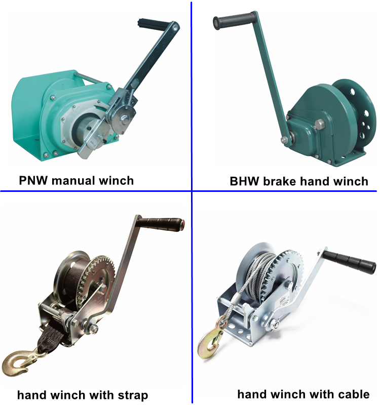 ALLMAN best sales PNW manual operated boat winch with automatic brake