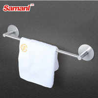self adhesive wall mount bathroom towel holder stainless steel rack