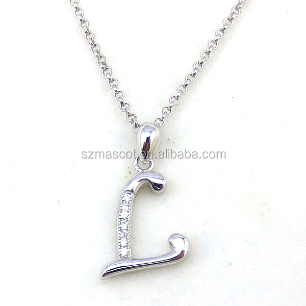 Fashion Alphabet Letter L Meaningful Pendant Necklace Jewelry Designs