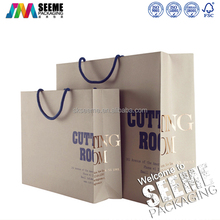 Factory printed top sale recycled customized luxury shopping paper bag