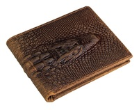 Crocodile Pattern Crazy Horse Leather Men's Wallet Wholesale Directly In Alibaba # 8029C