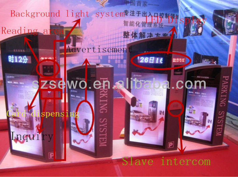 SEWO intelligent remote mechanical fully automatic RFID car parking system/magic car system/car loop detector