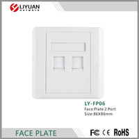 FP06 fiber optic face plate/ABS plastic network faceplate