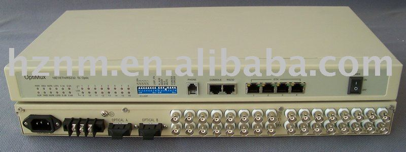 16E1 fiber modem, 1/4/8/16E1 + 100M Ethernet optical fiber modem