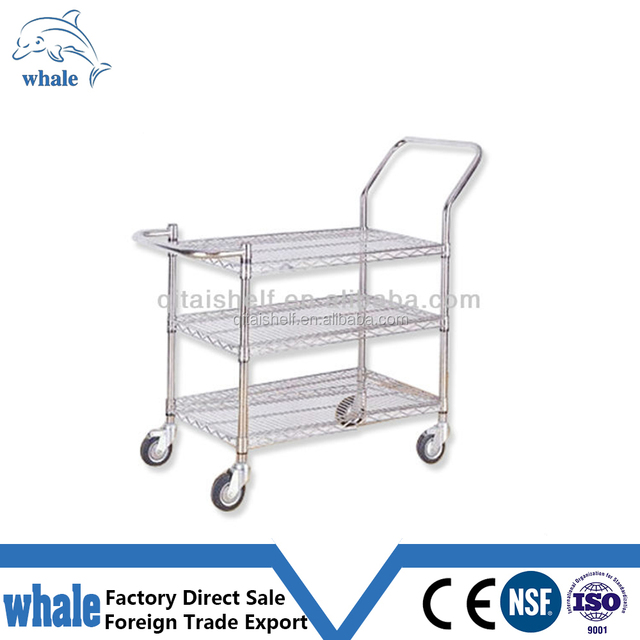 NSF approved supermarket storage chrome plated wire shelving