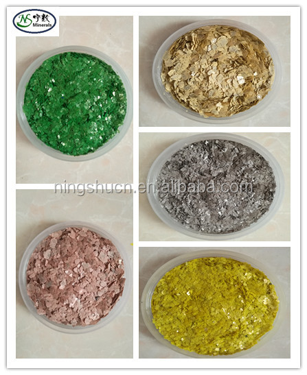 2017 hot sale color mica flakes bulk prices for coating with low price