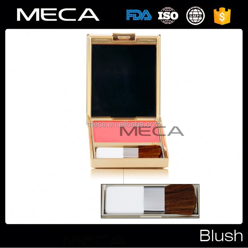 your brand makeup pressed powder blush palette with brush and mirror face blusher powder palette