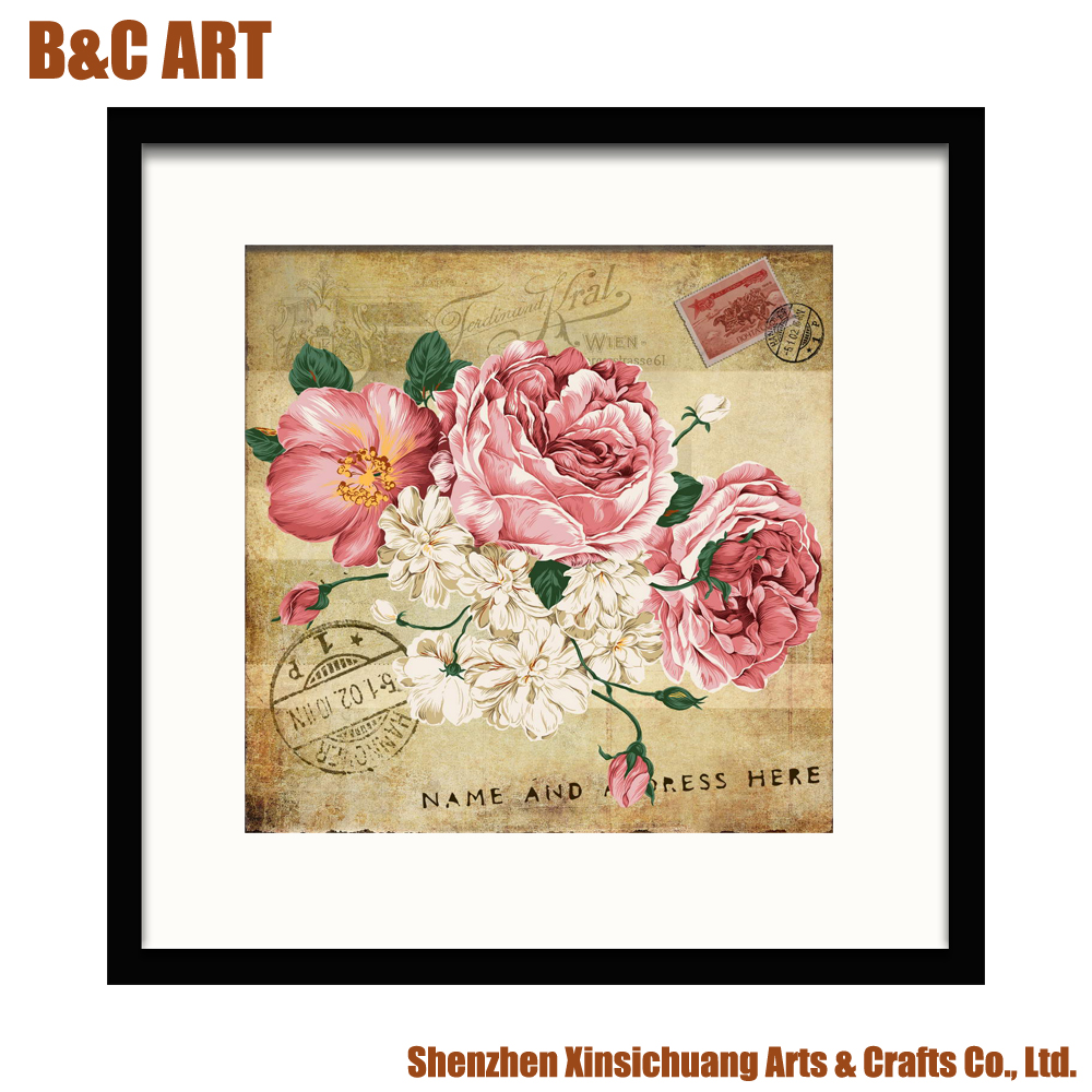 Wholesale Home Decoration Beautiful Abstract Rose Flower Image for Inkjet Printing