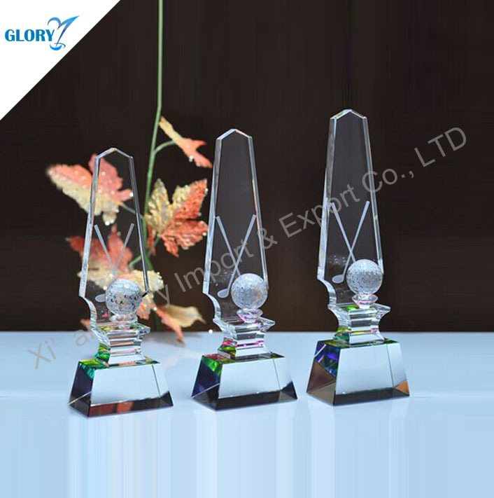 Funny Best Selling Crystal Golf Trophy Designs
