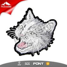 no minimum iron on cat custom embroidery patches for shirt