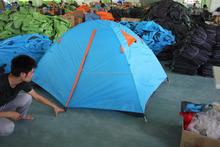 Hot Sale Double Layer 2-3 Person 4 Season Fiberglass Pole Outdoor Camping Tent,CZH-0015 2-3 Person Double Layer Outdoor Tent