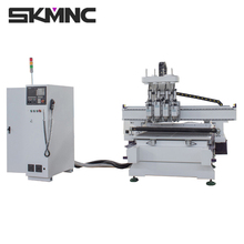 Multi processing carving computer numerical control wood panel cutting machinery for kitchen cabinet and door making