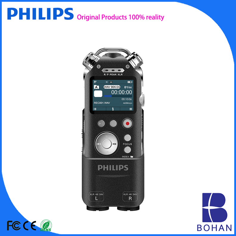 PHILIPS the High Sensitive Professional Automatic Voice Recorder with PCM Recording MP3 WAV Format