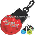 Hot Sale GT-094 ABS flat shape saftey warning key ring flashing decorative mini Led blinking light