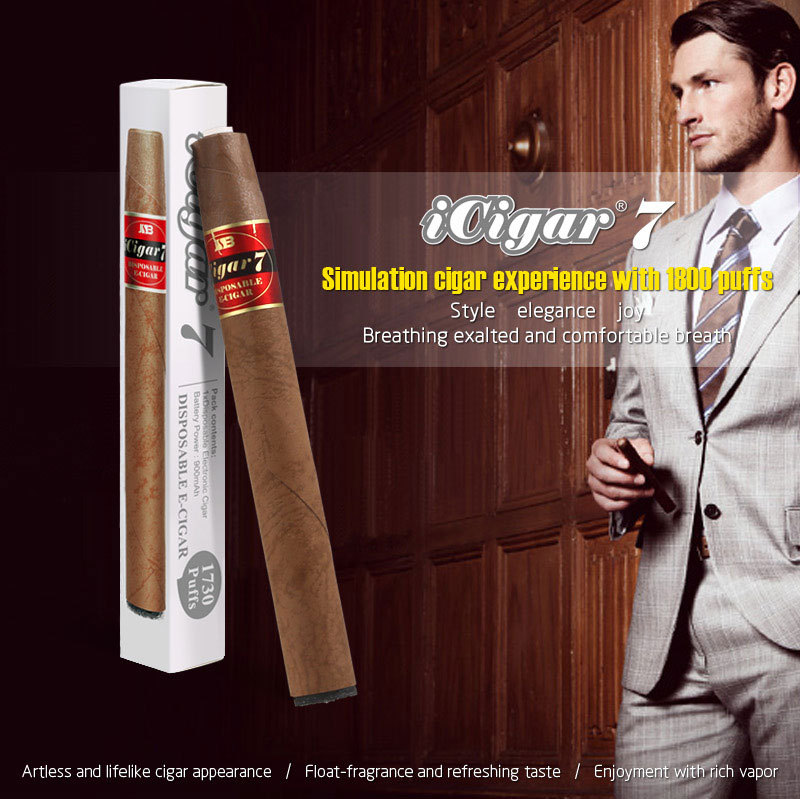 New disposable e hookah 1800puffs JSB iCigar7 flavored cohiba cigar e cigarette wholesale