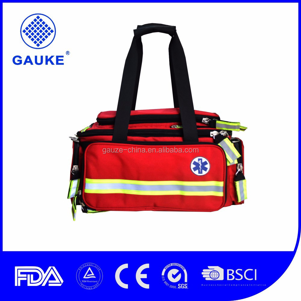 FDA approval emt bag , medical first aid kit bag for camping / travel