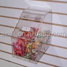 Clear acrylic wall mount new design storage box with lid from shenzhen