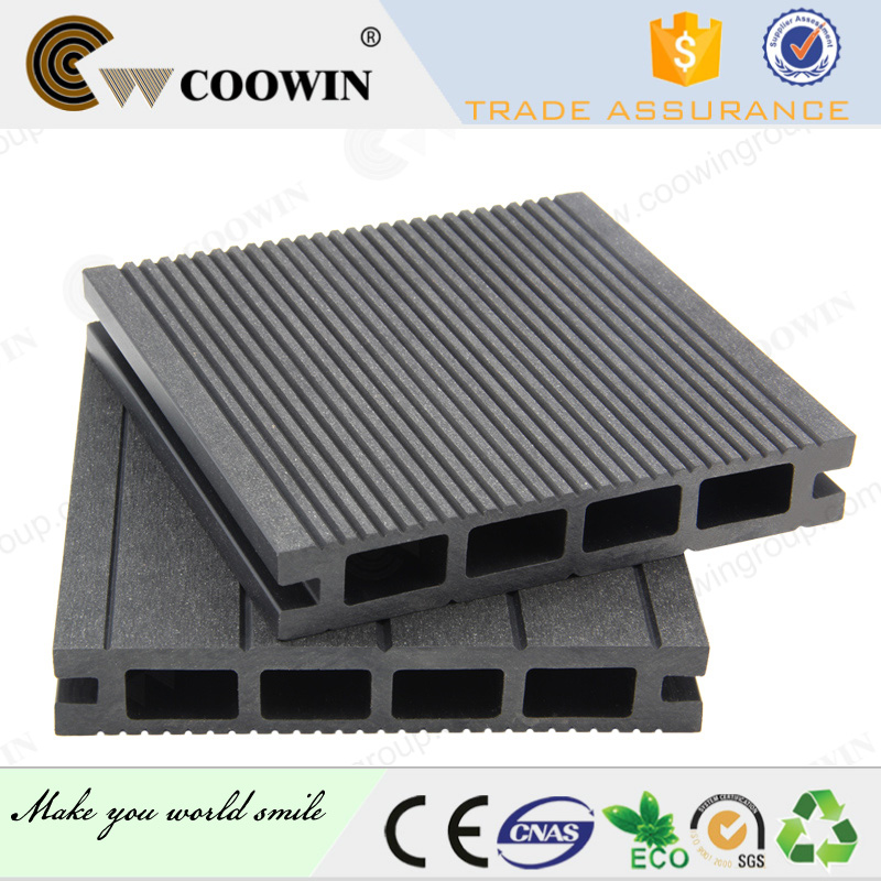 Hollow WPC decking exterior decoration floor covering